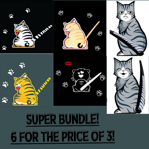 Super Cat Rear Wiper Decal Bundle (6 for the price of 3!)
