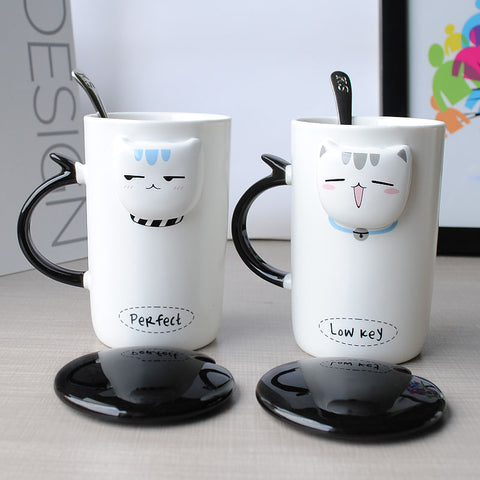 Handmade Painting Cat Ceramic Mug