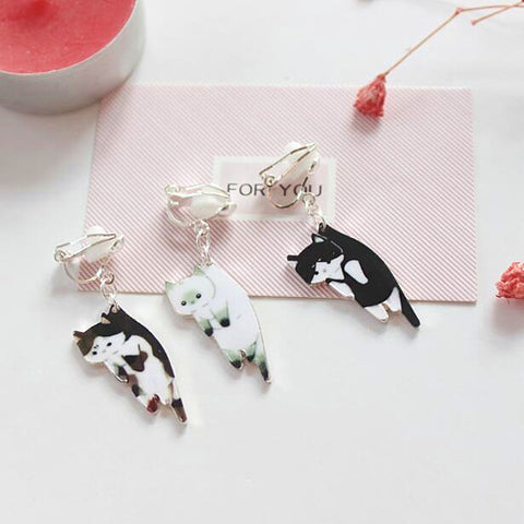 Nifty Cat Kitty Stud Earrings