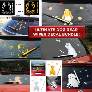 Ultimate Dog Rear Wiper Decal Bundle