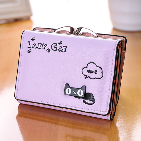 Image of Cat Anime Wallet - I Love Cat Socks
