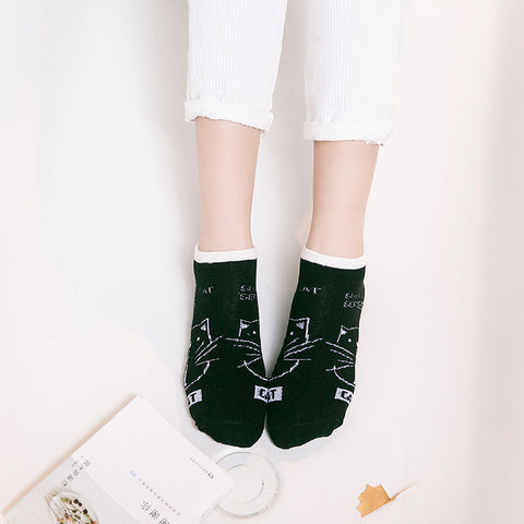 Image of Cat Striped Socks - I Love Cat Socks