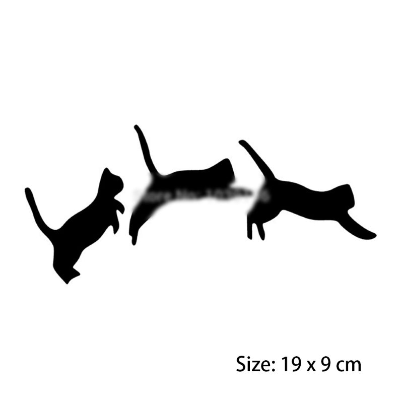 Three Jumping Cats Car Decal