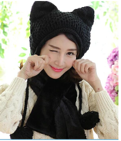 Lovely Knitted Cat Ear Beanie