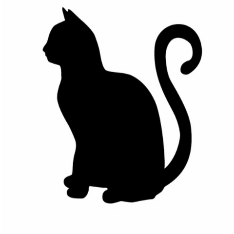 Image of Sitting Cat Car Decal
