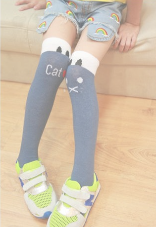 Adorable and Cool Knee High Socks for Children - I Love Cat Socks