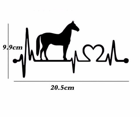 Horse Heartbeat Car Decal