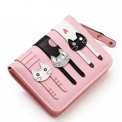 Colorful Cat Printed Wallet