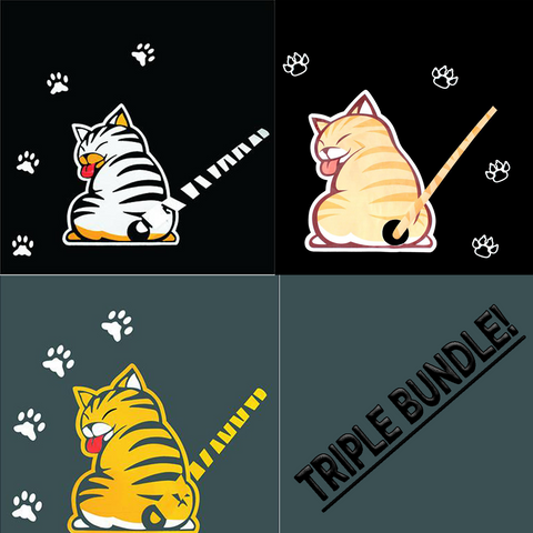 Cat Rear Wiper Decal Bundle - I Love Cat Socks