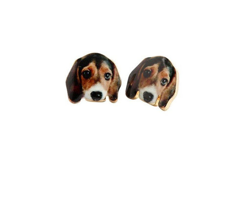 Beagle Stud Earrings - I Love Cat Socks