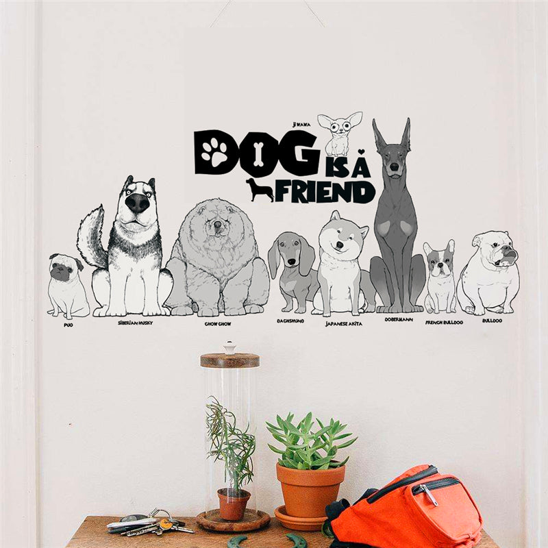 Dog is a Friend Wall Sticker - I Love Cat Socks
