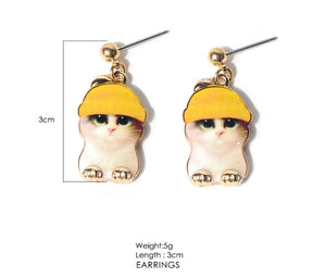 Cat Hat Earrings