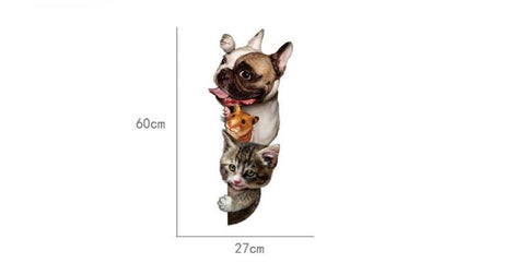 Image of 3D Cat, Dog, Hamster Wall Decal - I Love Cat Socks