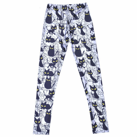 Sexy Cat Printed Pants - I Love Cat Socks - 2