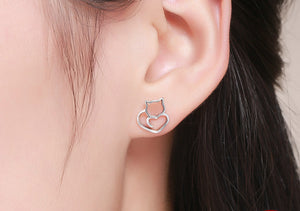 Cute Cat Small Stud Earrings