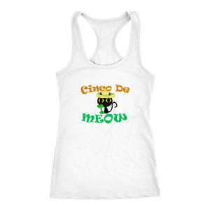 Cinco De Meow SportBack Tank Top Shirt