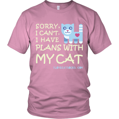 I Have Plans with My Cat 100% Cotton T-Shirt