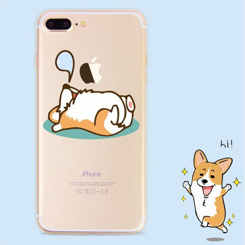Image of Cute Corgi Dog Iphone Case - I Love Cat Socks