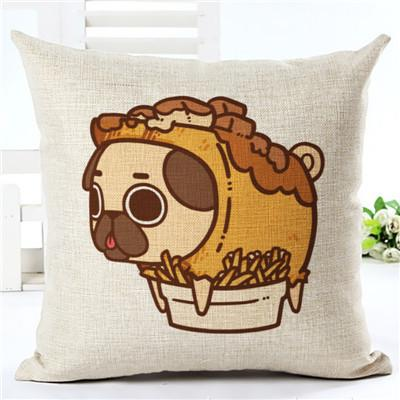 Image of Cartoon Food Dog Cushion Cover - I Love Cat Socks