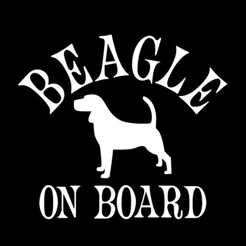Image of Beagle on Board Car Decal - I Love Cat Socks