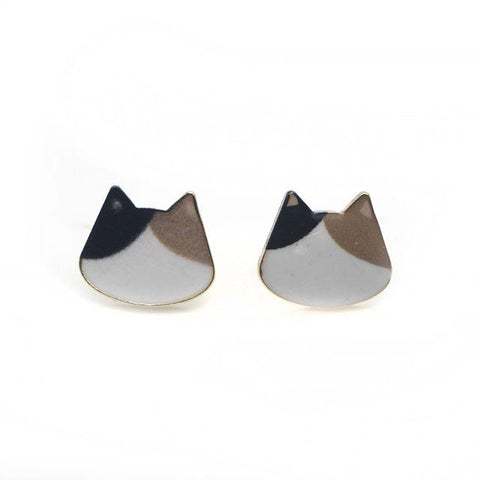 Image of Cat Ears Stud Earrings - I Love Cat Socks