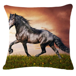 Horse Print Throw Pillow Cases