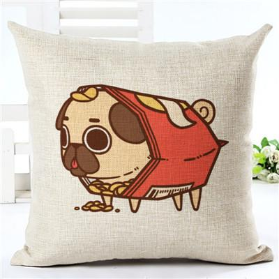 Cartoon Food Dog Cushion Cover - I Love Cat Socks