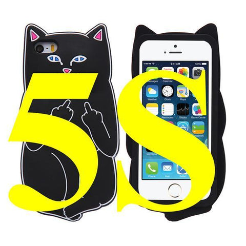 Image of 3D Cat iPhone Back Cover - I Love Cat Socks