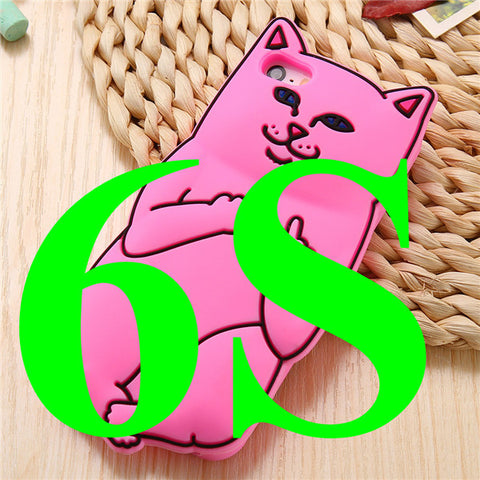 3D Cat iPhone Back Cover - I Love Cat Socks