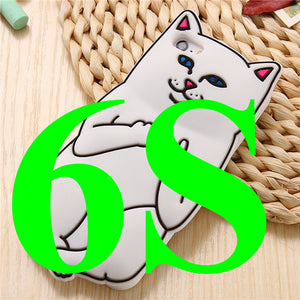 3D Cat iPhone Back Cover
