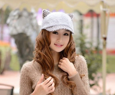 Image of Women's Soft Cat Ears Baseball Cap - Save Over 60% Today - I Love Cat Socks - 6