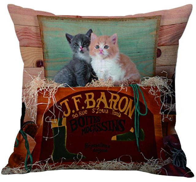 Cat World Pillow Cover - I Love Cat Socks