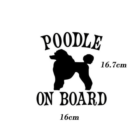 Image of Poodle On Board Car Decal