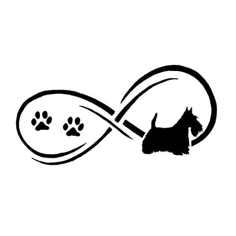 Forever With Scottish Terrier Car Decal - I Love Cat Socks