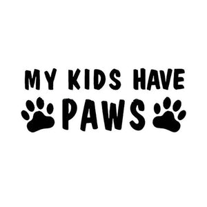 My Kids Have Paws Car Decal