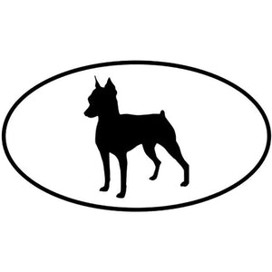 Miniature Pinscher Car Decal