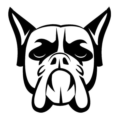 Image of Boxer Dog Head Car Decal - I Love Cat Socks