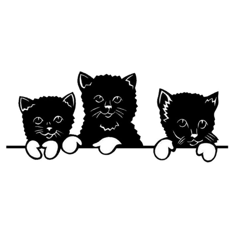 3 Little Kittens Car Decal - I Love Cat Socks