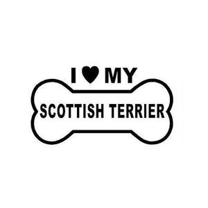 I Love My Scottish Terrier Car Decal