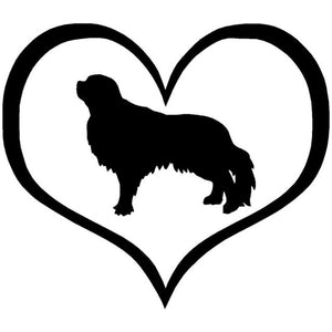 English Toy Spaniel Heart Car Decal - I Love Cat Socks