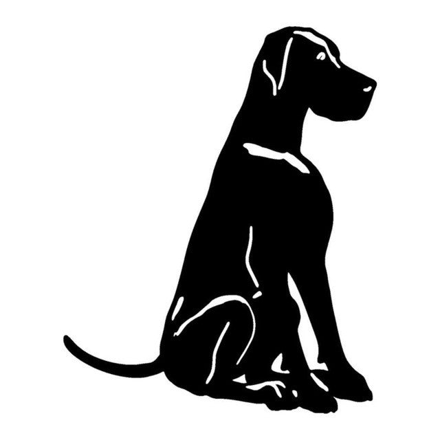 Good Great Dane Dog Car Decal