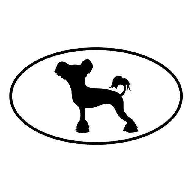 Chinese Crested Dog Car Decal - I Love Cat Socks