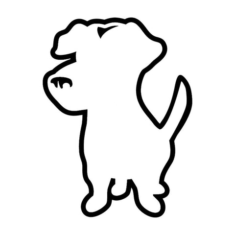 Jack Russell Puppy Car Decal
