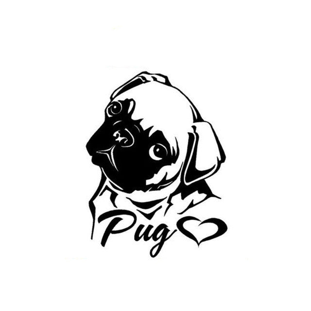 Creative Personality Pug Car Decal - I Love Cat Socks