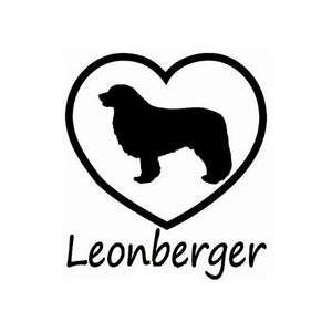 Love Leonberger Car Decal