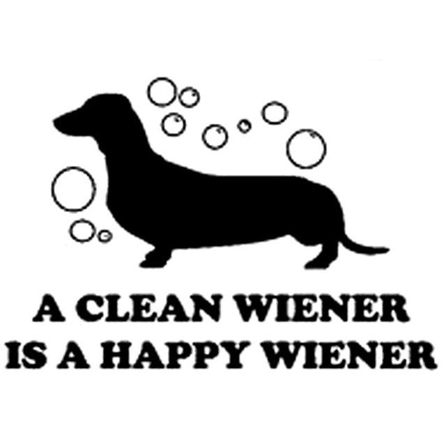 Clean Dachshund Dog Decal - I Love Cat Socks