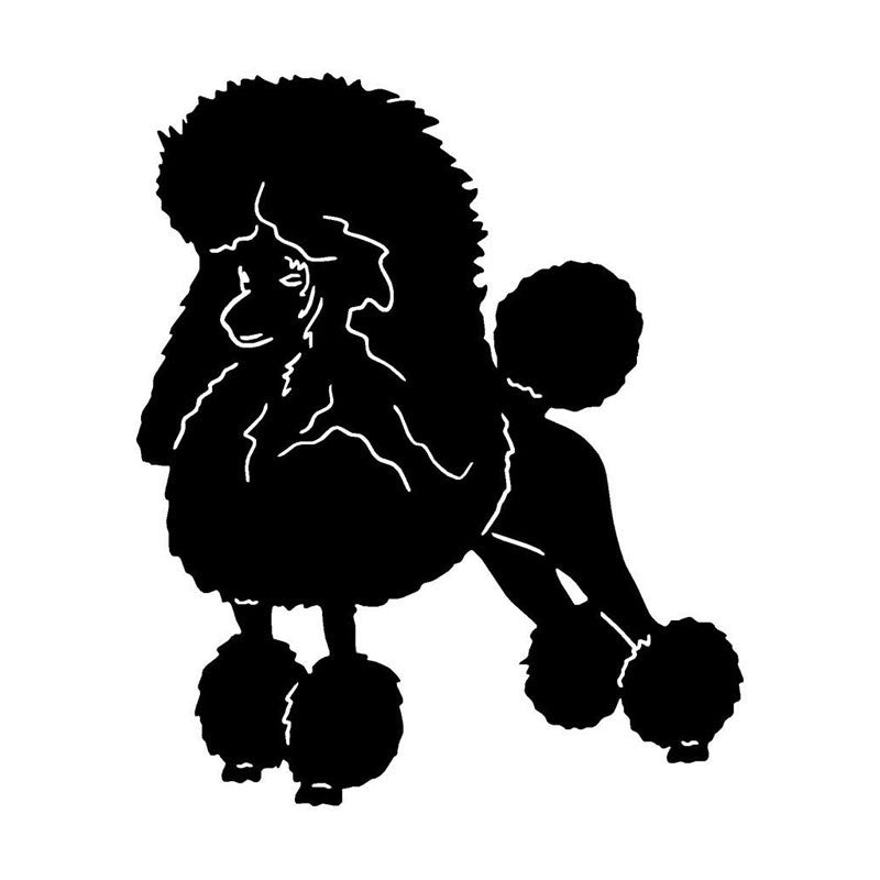 Poofy Poodle Car Decal