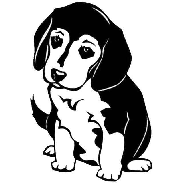 Cute Beagle Puppy Car Decal