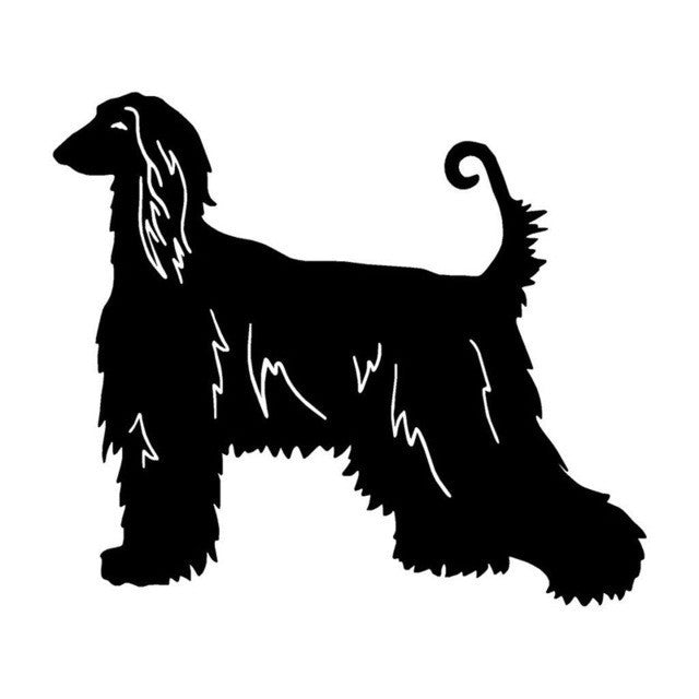 Afghan Hound Lovely Classic Car Sticker.