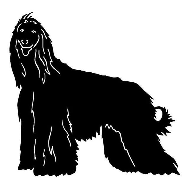 Afghan Hound Tongue Sticking Out Car Decal - I Love Cat Socks